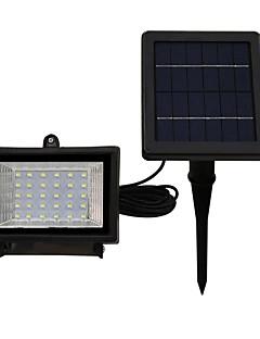 1本30ledソーラー投光器暖かいクールな白い色IP65防水屋外庭照明セキュリティ投光照明太陽電池駆動ランプ