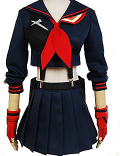 Inspired by  Kill LA Kill Girl's Battlesuit Ryuko Matoi Dress Cosplay Cosplay Anime Cosplay Costumes Cosplay Suits Top Skirt Gloves Strap For