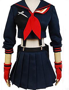 Inspireret af Cosplay Cosplay Anime Cosplay Kostumer Cosplay Kostumer Ensfarvet Langærmet Til Kvindelig