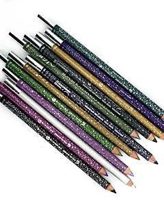 Lápis de delineador de maquiagem de maquiagem à prova de água de 12 cores lápis de lã natural durável e afiadores