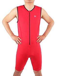 Macacão para Triathlon Homens Sem Mangas Moto Triatlo Respirável Confortável Corpo Inteiro Elastano Náilon Chinês Cor ÚnicaPrimavera