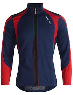 Jaggad ג'קט לרכיבה לגברים שרוול ארוך אופניים ג'קט צמרות שמור על חום הגוף עמיד לביש פוליאסטר Coolmax טלאים סתיו חורףרכיבה על
