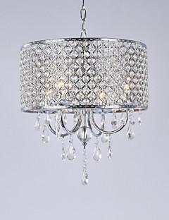 Candelabre ,  Modern/Contemporan Tobă Galvanizat Caracteristică for Cristal Metal Sufragerie Dormitor