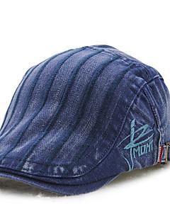 メンズ 夏 オールシーズン ヴィンテージ カジュアル コットン 純色 ベレー帽