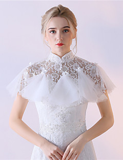 Estolas Femininas Mini Capa Renda Tule Casamento Festa Renda