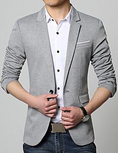 Erkek Pamuk Akrilik Uzun Kollu V Yaka Bahar Sonbahar Solid Sade Günlük/Sade Çalışma Normal-Erkek Blazer