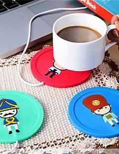 1 stk USB-hub kop varmere kontor kaffe te krus varmeapparat matta vinter drikke tilfældige farve
