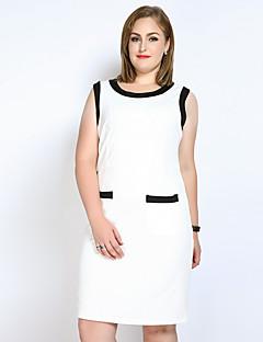 559736f399f5 Γυναικείο Καθημερινά Πάρτι Κοκτέιλ Μεγάλα Μεγέθη Σέξι Απλό Χαριτωμένο Σε γραμμή  Α Θήκη Τουνίκ Φόρεμα
