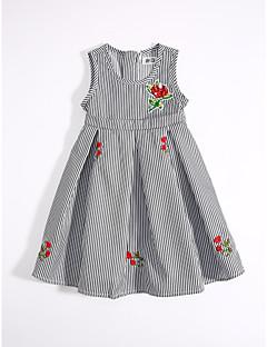 Dívka je Bavlna Běžné/Denní Proužky Léto Šaty