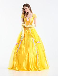 Cosplay Kostumer Prinsesse Dronning Eventyr Film Cosplay Gul Kjole Handsker Halloween Karneval Nytår Kvindelig Terylene