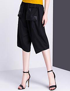 Naiset Klassinen ja tyylikäs Hiphop Yksinkertainen Chinos housut Housut,Löysä Keski vyötärö Patchwork,Yhtenäinen