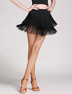 Dança Latina Mulheres Franjas 1 Peça Caído Saias