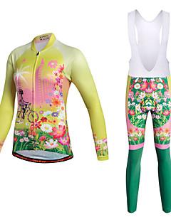 Miloto ビブタイツ付きサイクリングジャージー バイク サイクリングタイツ ビブタイツ パンツ トラックスーツ ジャージー トップス 洋服セット ポリエステル ポリエステル100% ライクラ® サイクリング/バイク