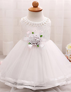 Baby Beach Party Going out Solid Dress,Polyester Summer-