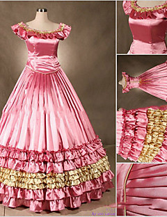 Jednodílné/Šaty Gothic Lolita Lolita Cosplay Lolita šaty Fuchsiová Retro Košíček Bez rukávů Short / Mini Šaty Pro Ostatní
