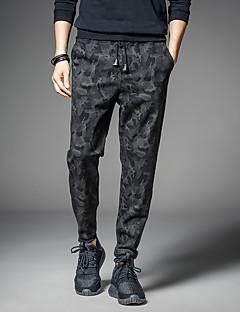Homme simple Street Chic Actif Punk & Gothic Taille médiale strenchy Sarouel Chino Pantalon,Large Sarouel Couleur unie Couleur mixte Mince