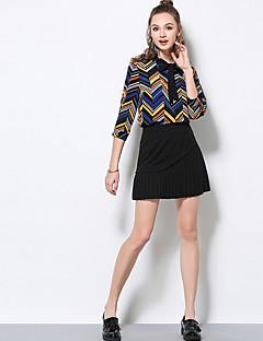 Damen Ausgehen Mini Röcke A-Linie einfarbig Frühling Sommer