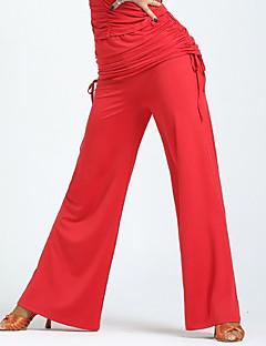 ריקוד לטיני חלקים תחתונים בגדי ריקוד נשים הופעה מילק פייבר קפלים חלק 1 טבעי מכנסיים