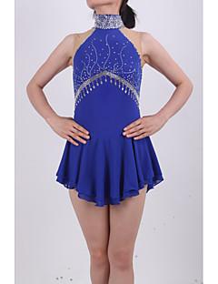 Műkorcsolya ruha Női Lány Ujjatlan Korcsolyázás Szoknyák Ruhák Nagy rugalmasságú Műkorcsolya ruha Kézzel készített Strasszkő Spandex