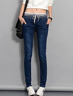Dames Eenvoudig Street chic Medium taille Skinny Micro-elastisch Slank Jeans Broek PureKleur,Effen