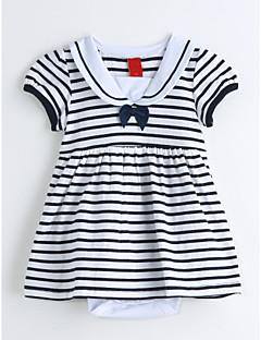 Baby Einzelteil Streifen Baumwolle Sommer Kurzarm