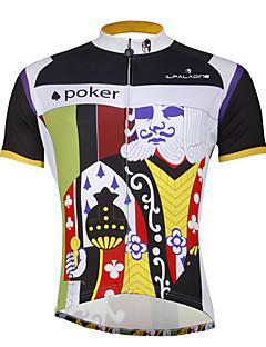 חולצת ג'רסי לרכיבה בגדי ריקוד גברים זכר שרוולים קצרים אופניים ג'רזי צמרותרכיבה על אופניים ייבוש מהיר עמיד אולטרה סגול דחיסה חומרים קלים