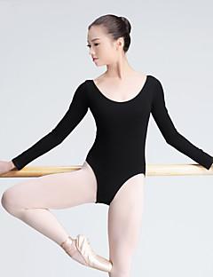 Balett Akrobatatrikó Női Edzés Pamut 1 darab Hosszú ujj Magas Akrobatatrikó