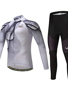 Calça com Camisa para Ciclismo Unisexo Manga Longa Moto Conjuntos de Roupas Ventilação Secagem Rápida Elastano Poliéster Silicone LYCRA®
