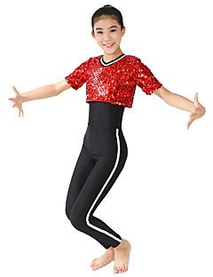 Žene / Dječji-Outfits- zaModerni plesovi(Crvena,Spandex / Polyester,Paillettes)