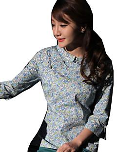 Blusa/Camisa Lolita Clássica e Tradicional Lolita Cosplay Vestidos Lolita Azul Vermelho Verde Café Estampado Manga Curta Lolita Blusa Para