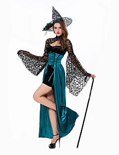 コスプレ衣装 魔法使い/魔女 イベント/ホリデー ハロウィーンコスチューム ドレス ハット ハロウィーン 女性用