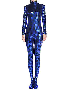 Zentai Suits Ninja Body Suit  Cosplay Costumes Blue Solid Color Leotard/Onesie Zentai Fish Scale Shiny Metallic Unisex Halloween Christmas