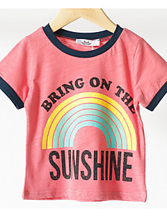 Girls' Others Tee,Cotton Summer Short Sleeve