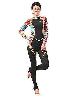HISEA® Naisten 1mm Märkäpuvut Dive Skins Kokokehon märkäpuku Säteilemätön Nailon Neopreeni LYCRA® Märkäpuku Pitkähihainen Sukelluspuvut-