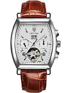 Pánské Sportovní hodinky Hodinky s lebkou Módní hodinky mechanické hodinky Automatické natahování Kalendář Voděodolné Svítící Pravá kůže