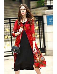Szabadság Alkalmi Kínai Csuklya-Női Cloak / Capes,Nyomtatott Tavasz Nyár Háromnegyedes Hosszú Selyem