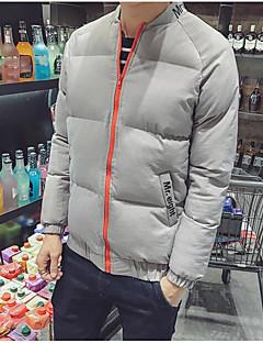 コート パッド入り メンズ,日常 カジュアル ソリッド メッセージ コットン ポリエステル コットン-シンプル 活発的 長袖