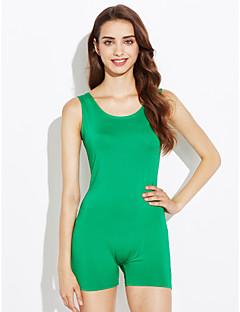 婦人向け シンプル / 活発的 ポリエステル ジャンプスーツ,マイクロエラスティック ノースリーブ