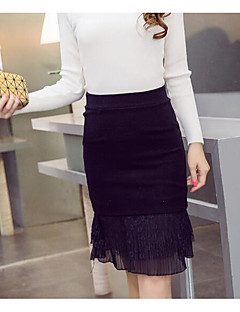 Women's Going out Knee-length Skirts Bodycon Solid Summer