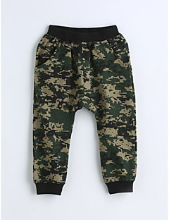 Boys' Camouflage Pants-Cotton Spring Fall