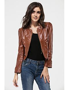 ceket 11 yuntuo®women moda pu deri büyük kilometre
