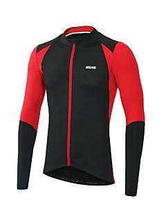 Arsuxeo Camisa para Ciclismo Homens Manga Longa Moto Camisa/Roupas Para Esporte Lista Reflectora Secagem Rápida Respirabilidade Suavidade