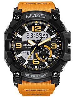 Bărbați Ceas Sport Ceas La Modă Ceas digital Ceas de Mână Piloane de Menținut Carnea LED Rezistent la Apă Zone Duale de Timp alarmă