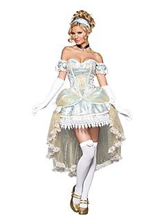 Prinsesse Eventyr Et-Stykke/Kjoler Cosplay Kostumer Maskerade Festival/Højtider Halloween Kostumer Helfarve Vintage Kjoler Handsker
