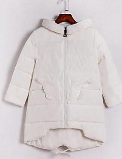 Пальто Уличный стиль Обычная На подкладке Для женщин,Однотонный На выход Другое Полипропилен,Длинный рукав