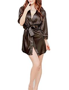noir satin blanc robe nuit vêtements de nuit pour les femmes