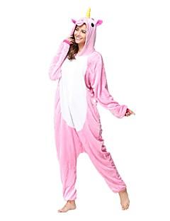 Kigurumi Pajamas Unicorn Leotard/Onesie Festival/Holiday Animal Sleepwear Halloween Pink Animal Flannel Kigurumi For Unisex Halloween