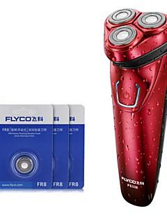 flyco fs338 rasoir électrique trois têtes de rechange 100240v lavable