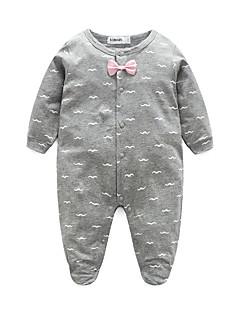 Baby Einzelteil Druck 100% Baumwolle Frühling/Herbst Lange Ärmel