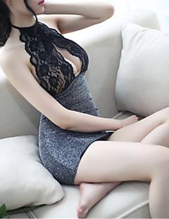 여성용 울트라 섹시 잠옷,섹시 레이스 솔리드 스판덱스